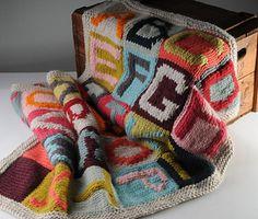 Alphabet Sampler blanket need to find pattern Knitted Afghans, Knitted Baby Blankets, Knitted Blankets, Loom Knitting, Baby Knitting, Knitting Patterns, Elephant Blanket, Crochet For Kids, Diy Crochet