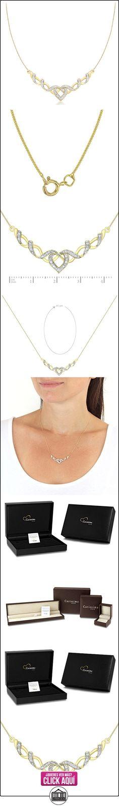 Carissima Gold Collar de mujer con oro bicolor de 9 quilates (375/1000), diamante, 41 cm  ✿ Joyas para mujer - Las mejores ofertas ✿ ▬► Ver oferta: https://comprar.io/goto/B008CZNYOY