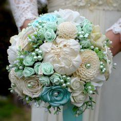 Accessoires - Hochzeit Brautsträuße mint Arya - ein Designerstück von Wandadesign bei DaWanda