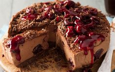 Chocolate cherry cheese cake- This insanely rich and gorgeous dessert is the ultimate dessert show stopper.