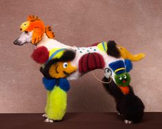 Oh dear .... Colourful dogs: Crazy Dog Grooming Competition