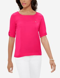 A fresh take on the tee that combines knit comfort with woven polish. An easy shape in pops of color, Harper will dress up everything from your suit to your jeans. Easy Shape, Classic Style, My Style, Just Go, Stylish Outfits, Color Pop, Dress Up, Clean Slate, Costume