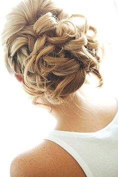 wedding hair bun