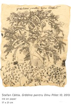 Garden for Dinu Pillat Modern Art, Vintage World Maps, Ink, Journey, Garden, Colors, Garten, Lawn And Garden, The Journey