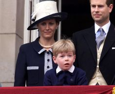 6/15/2001: Sophie, Countess of Wessex, Prince Edward, & Columbus Taylor after the Trooping The Colour ceremony (London)