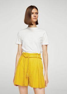 Modal-blend drawstring short -  Women | MANGO USA