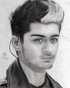 All right, this fandom is teased about not being able to draw Zayn, but I have to say, kudos to the the person who drew this! It's amazing.