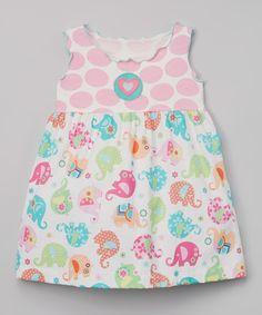 Pink Crazy Elephant Babydoll Top - Toddler & Girls by Tutu & Lilli #zulily #zulilyfinds