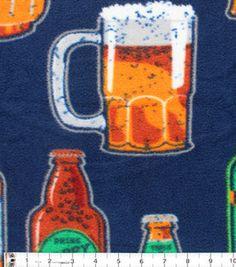 Anti-Pill Fleece Fabric-Happy Daze Beer