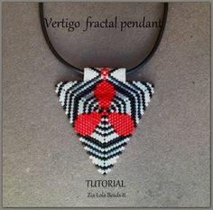 Instant download-Vertigo fractal pendant por ZiaLolaBeadsIt en Etsy