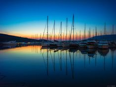 Solaris - Sunset view from my home pier. It is the best time of the day when sitting on board and watching the sun go down behind the other ships in the harbour. Sailing Yachts, Northern Lights, Ships, River, Sunset, Landscape, Day, Board, Outdoor