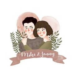 Discover recipes, home ideas, style inspiration and other ideas to try. Illustration Vector, Family Illustration, Portrait Illustration, Botanical Illustration, Illustrations, Portraits Illustrés, Couple Portraits, Drawing Simple, Blond Amsterdam