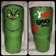 Diy Tumblers, Custom Tumblers, Glitter Tumblers, Acrylic Tumblers, Grinch Christmas, Christmas Glitter, Christmas Tumblers, Custom Cups, Glitter Cups