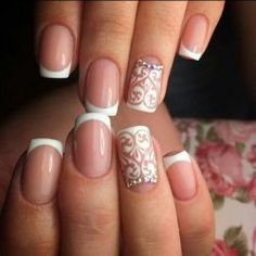 Beautiful French nails Bridal nails Classic french manicure New years nails Short French nails ideas Short nails french manicure ideas Wedding French manicure White French nails Bridal Nails Designs, French Manicure Designs, Simple Nail Art Designs, Beautiful Nail Designs, French Nails, French Manicures, Nagel Hacks, Nagellack Trends, Dream Nails