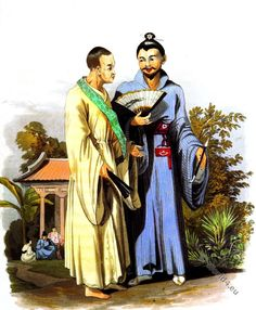 Buddhist Priest and Gentleman of Loo choo. Known as the Great Loo-Choo Island, Okinawa Japan. Okinawa Japan, Japan Fashion, Priest, Fashion History, Gentleman, Culture, Island, Expresso, Painting
