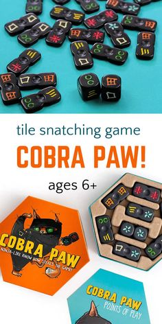Meet you next game for family game night! Cobra Paw is a fast paced tile snatching game that strengthens visual perception skills and reflexes for families with children ages 6 and up. Building Games For Kids, Games To Play With Kids, Free Activities For Kids, Outdoor Games For Kids, Kid Games, Group Games, Family Games, Tabletop Board Games, Fun Board Games