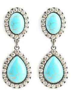 GET $50 NOW   Join RoseGal: Get YOUR $50 NOW!http://m.rosegal.com/earrings/faux-turquoise-water-drop-layered-751307.html?seid=6822138rg751307