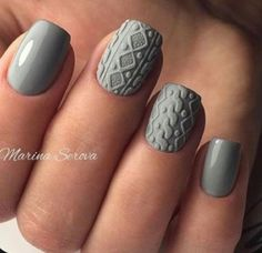Winter is the time when ladies decorate their nails with various winter nail designs. In the post, you`ll find everything you need to have a fashionable winter manicure. Fall Nail Art Designs, Burgundy Nail Designs, Burgundy Nail Art, Latest Nail Designs, Nagellack Trends, Different Nail Designs, Sweater Nails, Grey Sweater, Manicure E Pedicure