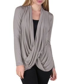 Look what I found on #zulily! Mocha Crisscross Drape Top #zulilyfinds