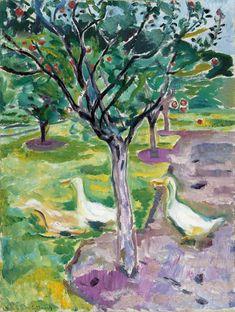 Visto 19/11/13 Edvard Munch Gansos en un huerto c. 1911 Óleo sobre lienzo 90 x 68 cm Colección Carmen Thyssen-Bornemisza en depósito en el Museo Thyssen-Bornemisza