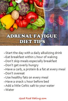 CLICK HERE for more tips on the Adrenal #Fatigue #Diet  http://goodfoodeating.com/2349/