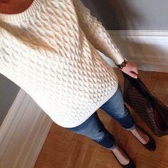 Instagram @headedoutthedoor #ootd || #oldnavy sweater | #gap jeans | #bananarepublic flats | #louisvuitton bag | #targetstyle bracelet