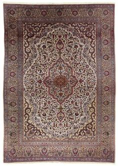 VAN-HAM Kunstauktionen Kashan, silk.  Mid-20th C. 334 x 237cm.