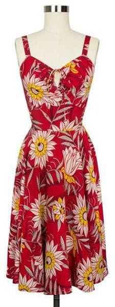 Red Water Lillies L'amour Dress Trashy Diva