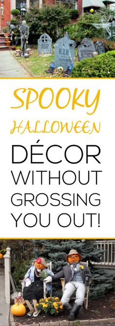 Check out these festive Halloween decor for your yard! CLICK to check out this site full of garden, and holiday ideas.