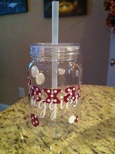 Texas Aggies Acrylic Mason Jar