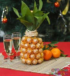 How to Make Pineapple Champagne Bottle - DIY & Crafts - Handimania Diy Crafts Instructions, Easy Diy Crafts, Food Gifts, Craft Gifts, Diy Gifts, Creative Gift Wrapping, Creative Gifts, Pineapple Gifts, Pineapple Delight