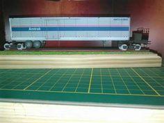 AMTRAK roadrailer system papercraft 1:100