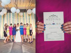 CMYK Inspired Wedding
