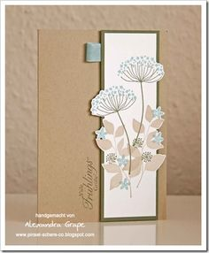 Stampin up summer silhouettes card Love the partial cut out shapes. So very pretty
