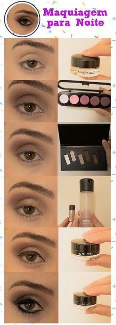 maquiagem para noite marrom com brilho - tutorial completo de maquiagem, aprenda todos os truques nesse passo a passo.