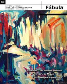 Fábula, revista literaria. Número 38.Primavera-Verano de 2016