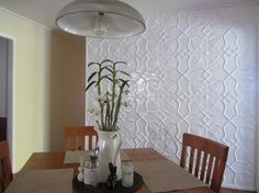 Pressed metal feature walls - contemporary - dining room - other metro - by Heritage Ceilings Dado Rail, Pressed Metal, Shield Design, Splashback, Metal Walls, Feature Walls, Contemporary, Dining Room, House Ideas