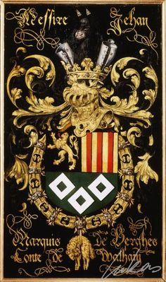 Armorial plates from the Order of the Golden Fleece   Jean IV, Marquis de Berghes