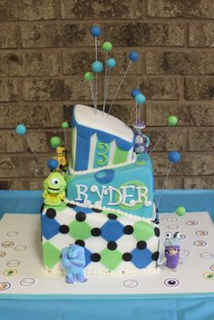 Ryder's 3rd Birthday Cake - Monsters Inc Themed