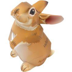 free PDF 3D DIY tutorial download. Easter: rabbit bunny Mini Rex,Animals,Paper Craft,Animals,easy,rabbit,Paper Craft,Pet series,Mammals