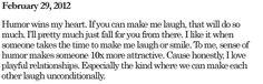 Make me laugh..
