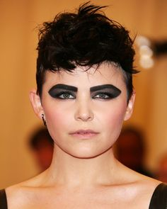 Look of the Day photo | Ginnifer Goodwins Graphic Smoky Eye