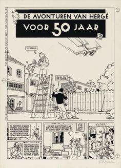 Les Aventures d'Hergé, il y a 50 ans, récit complet en 3 planches par Joost Swarte, Collection 30 X 40, Futuropolis, 1980.