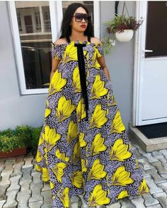 afrikanischer Druck kleidet beste Outfits - Women's style: Patterns of sustainability Ankara Long Gown Styles, African Dresses For Women, African Print Dresses, African Attire, Ankara Styles, Ankara Gowns, African Prints, Ankara Designs, African Outfits
