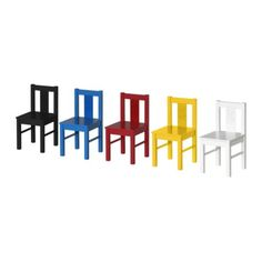IKEA KRITTER Children's chair, blue $12.99 The price reflects selected options Article Number:001.537.00 Read more Color