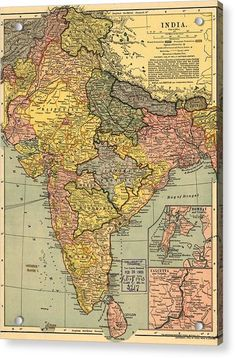 India - - Panoramic Map (Art Print Available), Multi