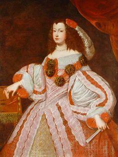Infanta Maria Teresa by Juan Carreno de Miranda (location unknown). No ruff or hanging sleeves.