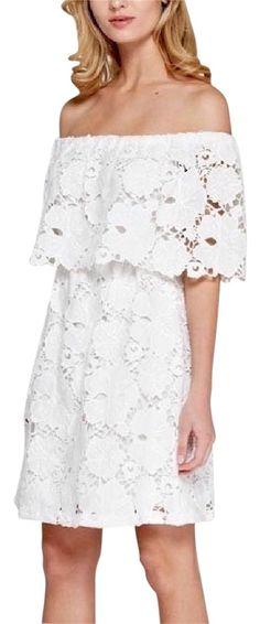 a6444547ee50 White Floral Off The Lace Mini Dress. Free shipping and guaranteed  authenticity on White Floral