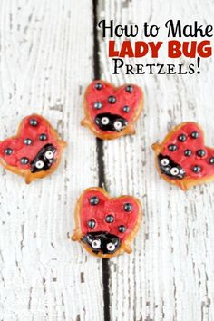 Here is a really fun Lady Bug Pretzel Recipe for you to make with your kids! These are a fun treat for any occasion!