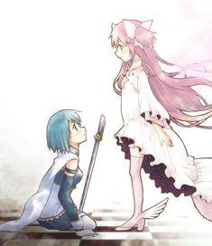 Madoka Magica: Sayaka and Goddess Madoka